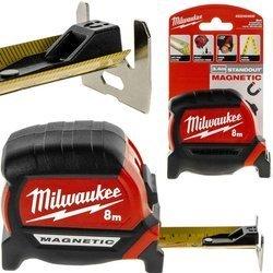 Taśma miernicza Premium Magnetic 8m zwijana Milwaukee