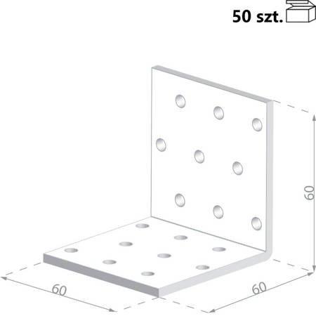 Kątownik KM4 60x60x60 x 2,0 mm (50 szt.)
