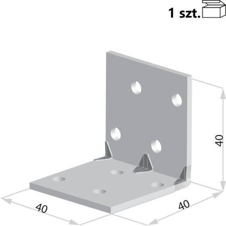 Kątownik KMP1 40x40x40 x 1,5 mm (1 szt.)