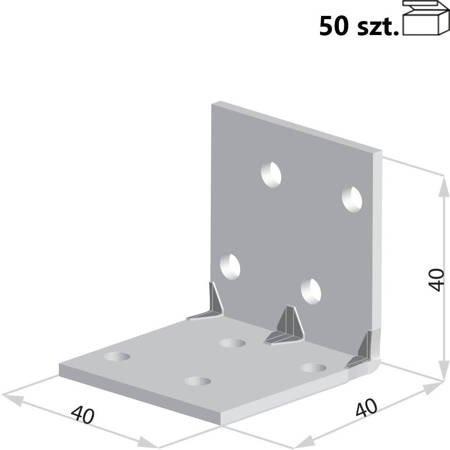 Kątownik KMP1 40x40x40 x 1,5 mm (50 szt.)