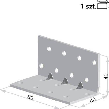 Kątownik KMP3 40x40x80 x 1,5 mm (1 szt.)