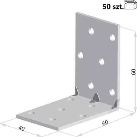 Kątownik KMP4 60x60x40 x 1,5 mm (50 szt.)