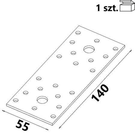 Łącznik płaski ŁP2 140x55x 2,5 mm (1 szt.)