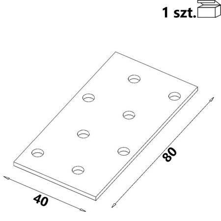 Płytka perforowana PP01 40x80x 2,0 mm (1 szt.)